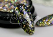 Műköröm díszítők - Glitter páva