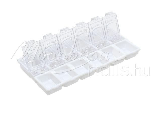 12 rekeszes Díszítő kellék tároló  #029-W Fehér