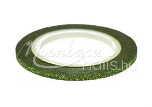 Zöld 3D matt díszítő csík  #106