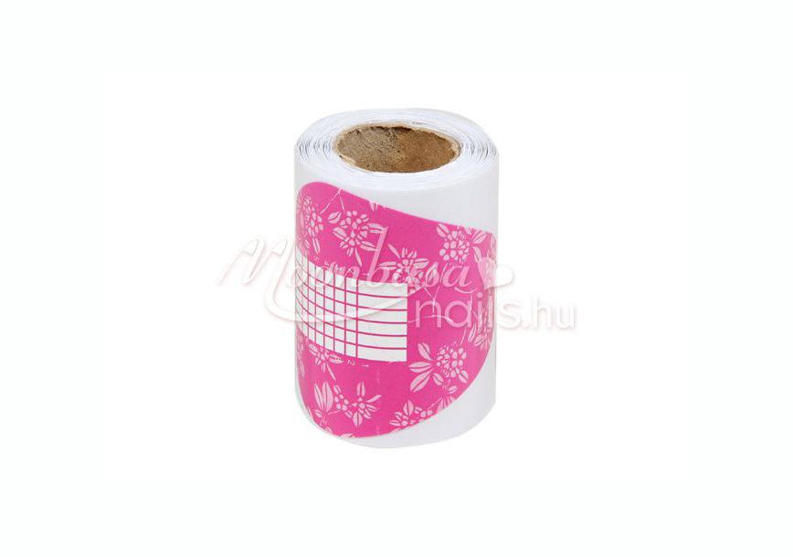 40 db műköröm sablon 10 db ajándék sablonnal  #008 rózsaszín