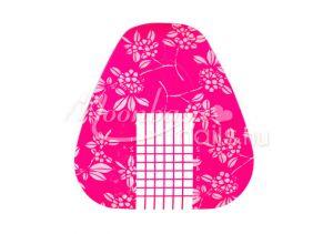 rózsaszín 40 db műköröm sablon 10 db ajándék sablonnal  #008
