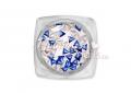 Háromszög alakú szegecs, 50db, #3-30-49, Metál király kék