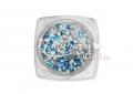 Kör alakú szegecs, 100db, #15-15, Metál király kék
