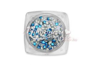 Metál király kék Kör alakú szegecs 100db #15-15