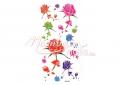Színes rózsák és szírmok mintás lemosható tetoválás