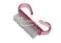 Mini portalanító kefe erős szőrrel pink