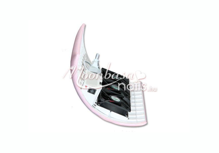 Műkörmös porelszívó kéztámasz 3 motoros  rózsaszín