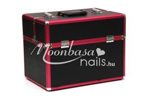Műkörmös táska  B01 Metál pink-fekete