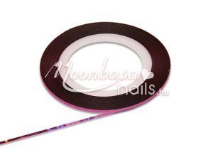 Csillámos lila Műköröm díszítő csík  #18