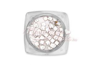 Metál ezüst Négyzet alakú szegecs 50db #2525-1