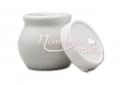 Zárható Porcelán tégely    Fehér