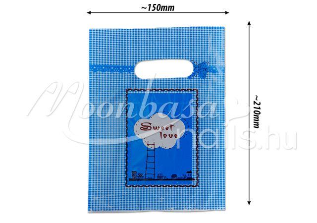 Ajándék szatyor 100db/csomag #501-12 Blue Sweet love