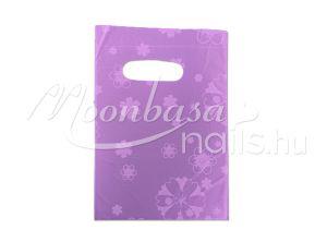 Ajándék szatyor 100db/csomag #501-13 Lila virágos