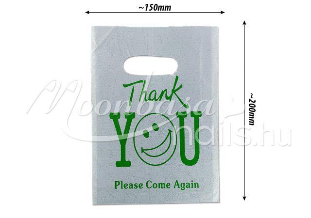 Ajándék szatyor 100db/csomag #501-15 Zöld Thank you feliratos