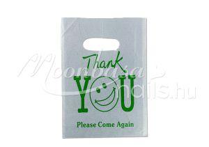 Zöld Thank you feliratos Ajándék szatyor 100db/csomag #501-15