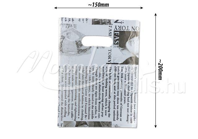 Ajándék szatyor 100db/csomag #501-19 Newspaper design