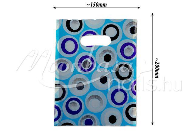 Ajándék szatyor 100db/csomag #501-28 Kék buborékos