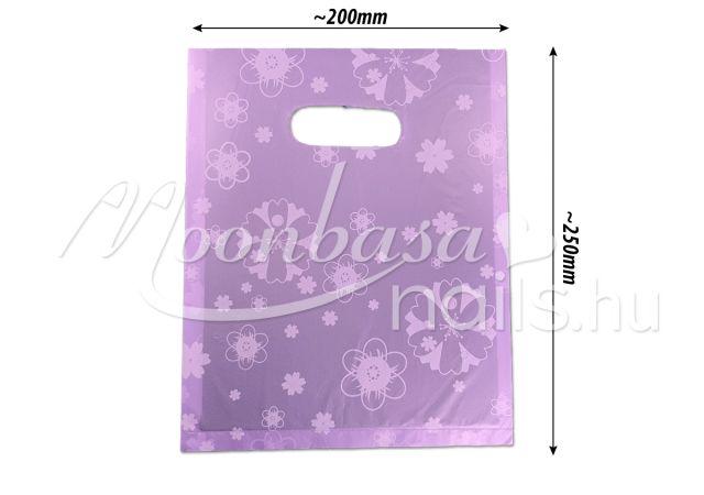 Ajándék szatyor 100db/csomag #502-13 Lila virágos