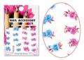 Kék és lila virág Akril hatású matrica