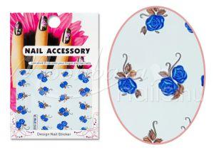 Kék rózsák Akril hatású matrica  BLE 1549