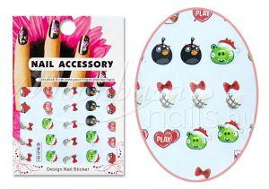 Angry Birds Akril hatású matrica  BLE1591