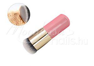 arany-rózsaszín Arc púder smink ecset