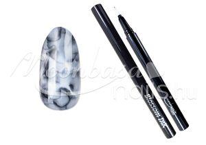 Fekete Blossom ink - Nail art brush ecset 1ml #03