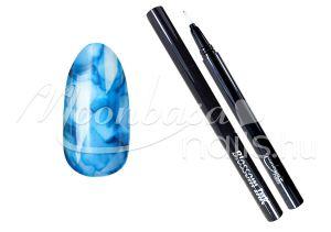 Sötétkék Blossom ink - Nail art brush ecset 1ml #10