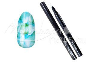 Türkiz Blossom ink - Nail art brush ecset 1ml #11