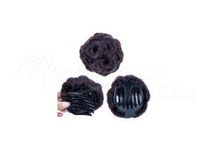 Csatos konty kiegészítő  #210001-4 Feketés barna