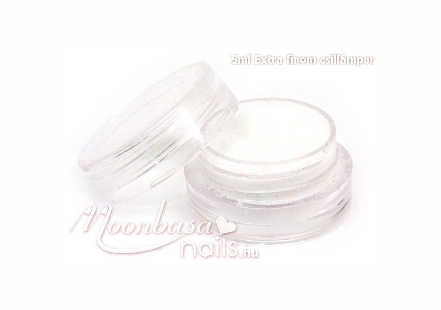 Extra finom csillámpor 5ml Fehér 6006