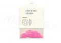Szivárvány fényű pink Félkör gyöngy, #004250 db