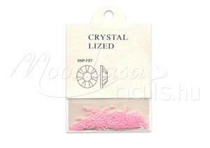 Szivárvány fényű rózsaszín Félkör gyöngy 250 db #007
