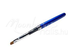 Fém zselé ecset lapos #004  Z012-4 kék