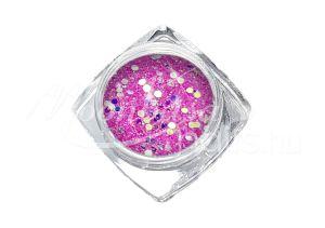 Rózsaszín Flitterpor 5ml FP007