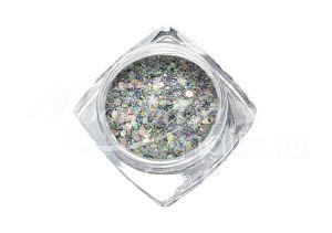 Csillámos ezüst Flitterpor 5ml FP010