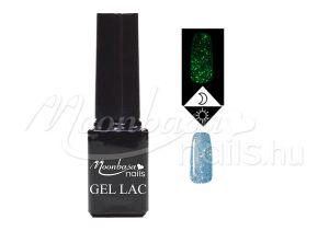 Csillámos kék Foszforeszkáló géllakk 5ml #633