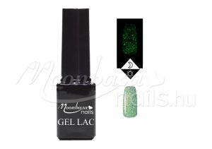 Csillámos világos zöld Foszforeszkáló géllakk 5ml #634