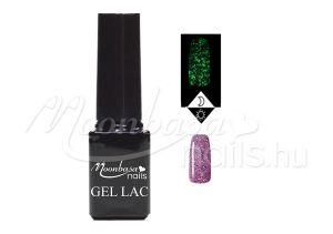 Csillámos lila Foszforeszkáló géllakk 5ml #635