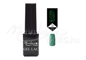 Csillámos zöld Foszforeszkáló géllakk 5ml #637