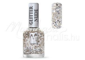 Glitter nude körömlakk 12ml #391 Silver