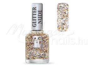 Glitter nude körömlakk 12ml #392 Champagne