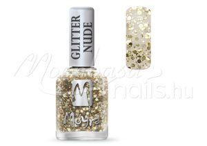 Glitter nude körömlakk 12ml #393 Gold