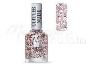 Glitter nude körömlakk 12ml #394 Rose