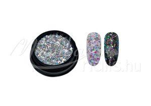 Króm Glitter páva  #01