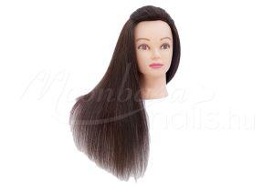 Sötétbarna Gyakorló fej-természetes hatású hajból  #321