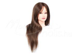 Barna Gyakorló fej-természetes hatású hajból  #323-BR