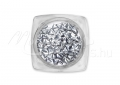 Háromszög alakú szegecs, 50db, #3-30-1, Metál ezüst crystal