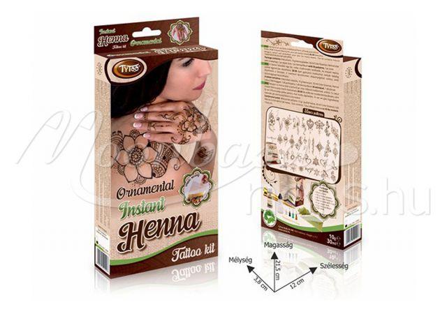 Instant ornamental Henna szett  #500907