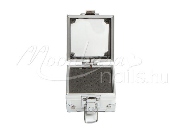 Karbid fej tároló Display box csattos #012 Ezüst fém